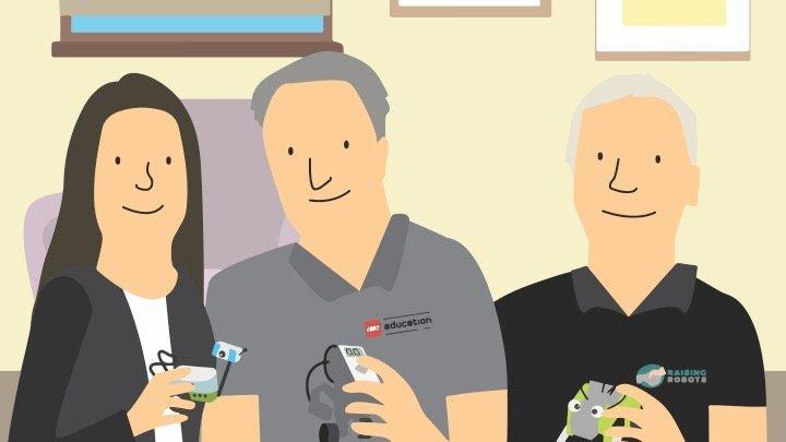 Sarah, John and Colin